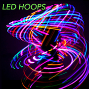 LED lighted hoops